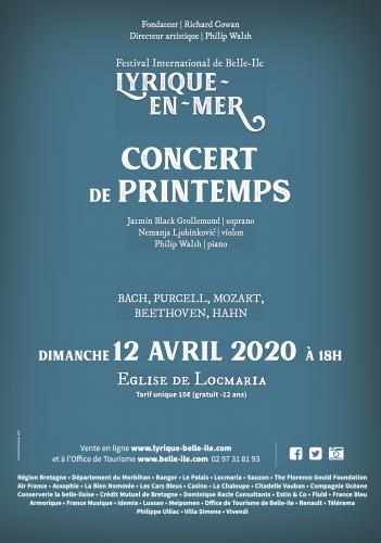 Affiche Concert de Printemps 2020